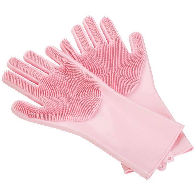 奇丽屋魔术硅胶洗碗手套女家用多功能耐用型洗衣刷碗神器防烫手套