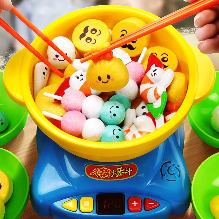 柏晖儿童过家家火锅大乐斗玩具宝宝仿真厨房做饭男孩女孩3-4-6岁5