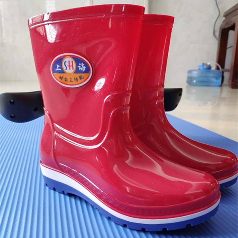 女雨鞋时尚水鞋女中筒成人雨靴时尚水靴四季防水鞋女士防滑胶鞋