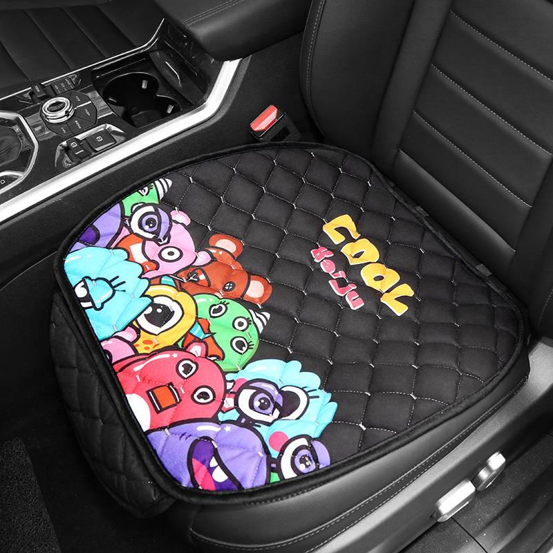 汽车坐垫冬季毛绒单片保暖单个屁屁垫车座垫车垫子冬天通用三件套