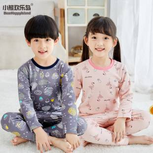 儿童保暖内衣套装加绒加厚