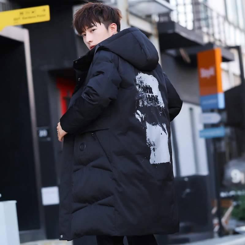 新品棉衣男冬季长款2019韩版潮流棉服加厚中长款上衣保暖棉袄时尚