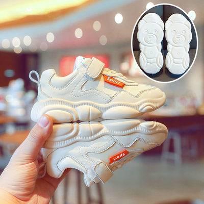 女童鞋网红小熊鞋子儿童运动鞋2019春秋新款学生休闲鞋男童小白鞋