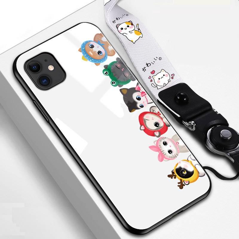 苹果11手机壳iPhone11Promax女个性潮牌玻璃maxPro防摔iPhone11Pro网红por男款高档创意全包iP卡通可爱保护套