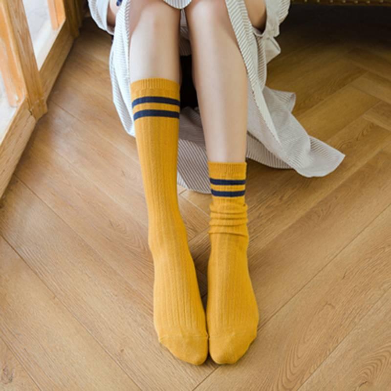 袜子女堆堆袜女秋冬中筒袜日系韩国秋季长筒袜秋冬季棉袜潮长袜