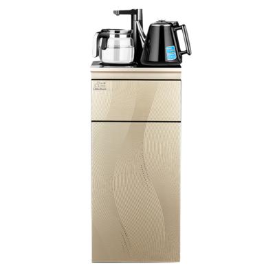 小鸭饮水机家用立式童锁冷热下置水桶自动上水智能大型桶装茶吧机