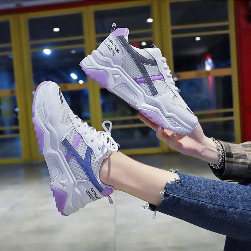 兰茵朵百搭ins运动鞋2020夏新款韩版学生老爹鞋透气厚底小白鞋女