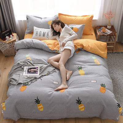 床上四件套全棉纯棉特价1.8m2.0米ins风网红床单被套简约家纺清仓