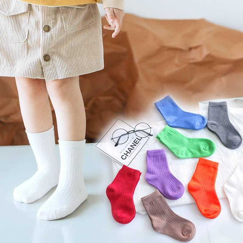 韩国儿童袜子潮ins女宝宝中筒袜秋冬季纯棉中大童袜子男童12-15岁