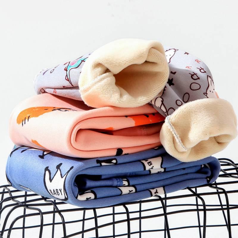 宝宝保暖内衣套装纯棉儿童加绒加厚秋衣秋裤婴儿衣服男女童两件套
