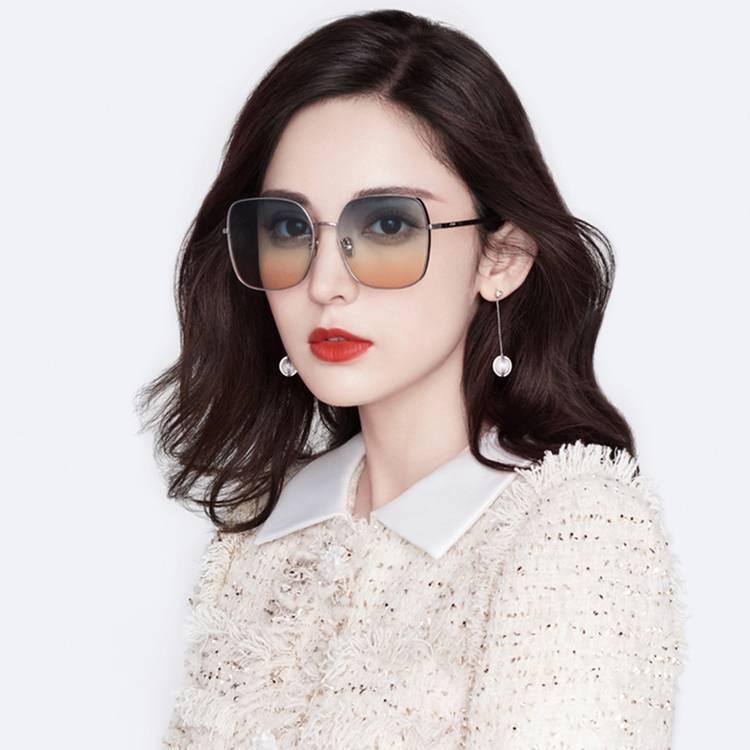 帕莎新款渐变色时尚太阳镜男女个性显瘦方框小脸圆脸明星同款墨镜