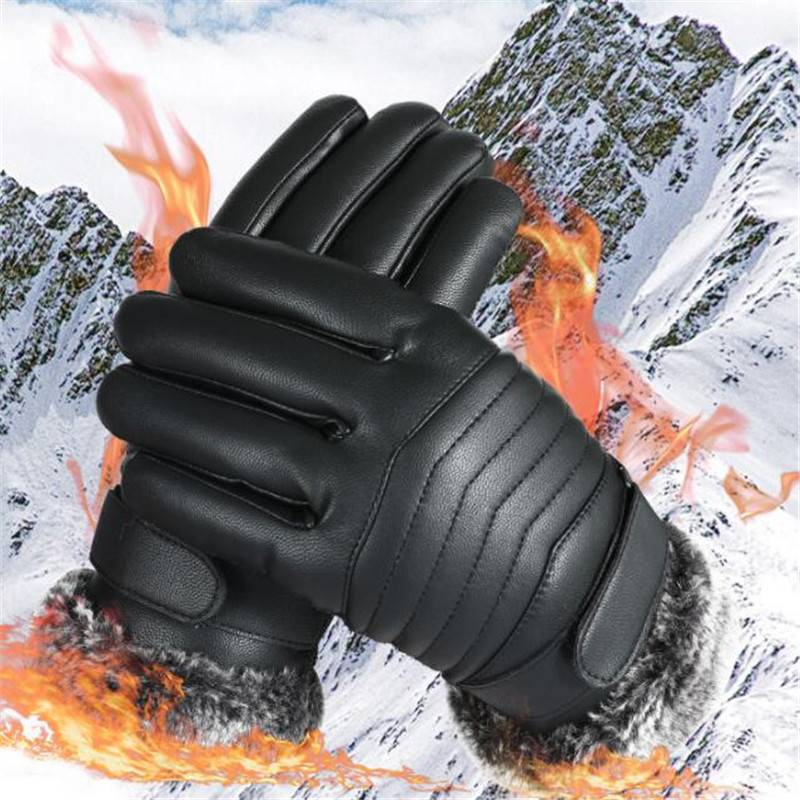 手套男士冬季保暖防风防寒骑行加绒加厚防水滑雪骑车摩托车皮手套
