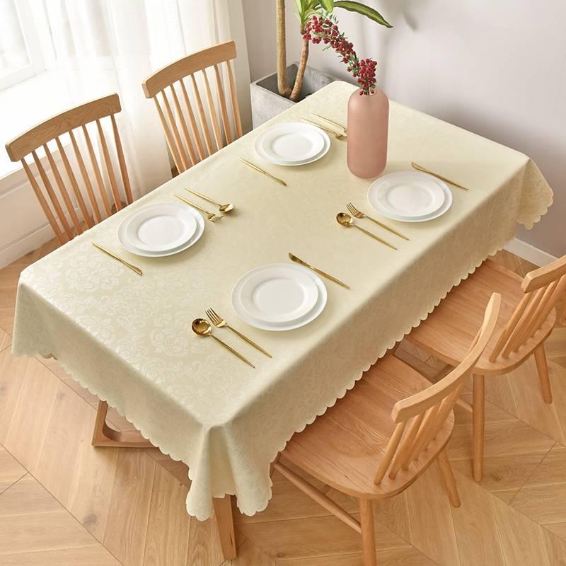 北欧餐桌布防水防油防烫免洗网红圆方形桌布书桌学生茶几桌垫布艺