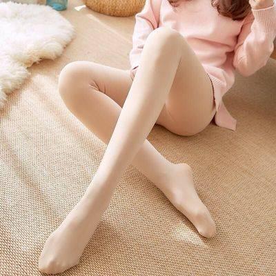 春秋薄款防勾丝连袜打底袜加厚加绒冬季保暖裤肉色丝袜女光腿显瘦