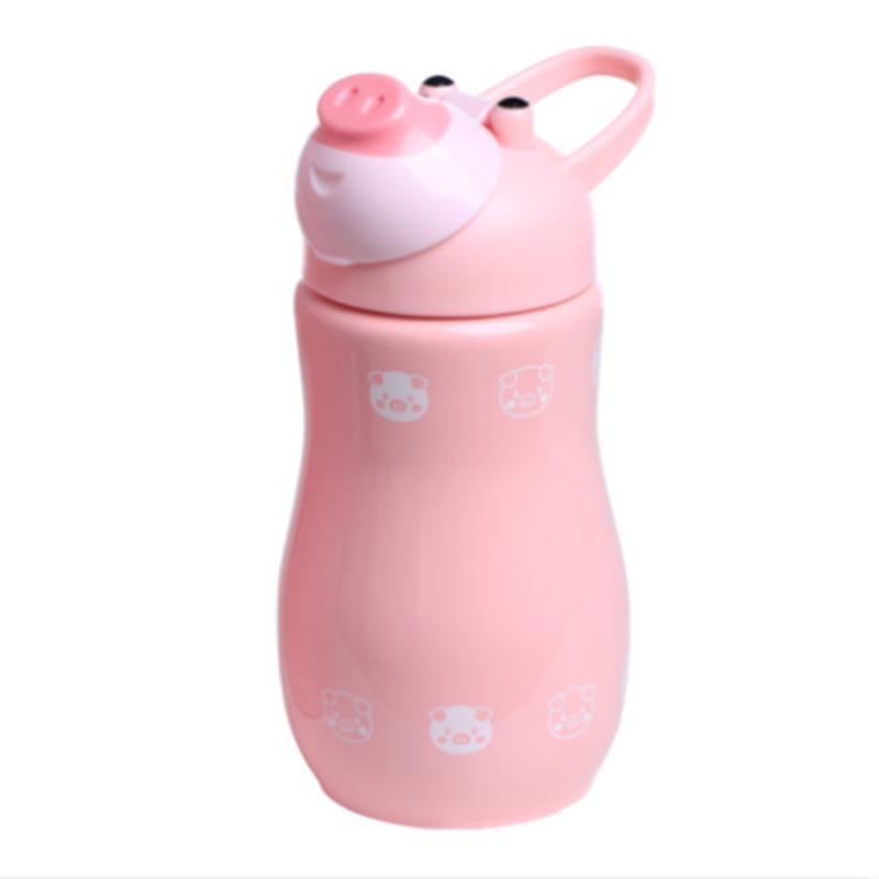 iyuyu儿童保温杯带吸管防摔幼儿园宝宝喝水杯属相杯创意婴儿水壶