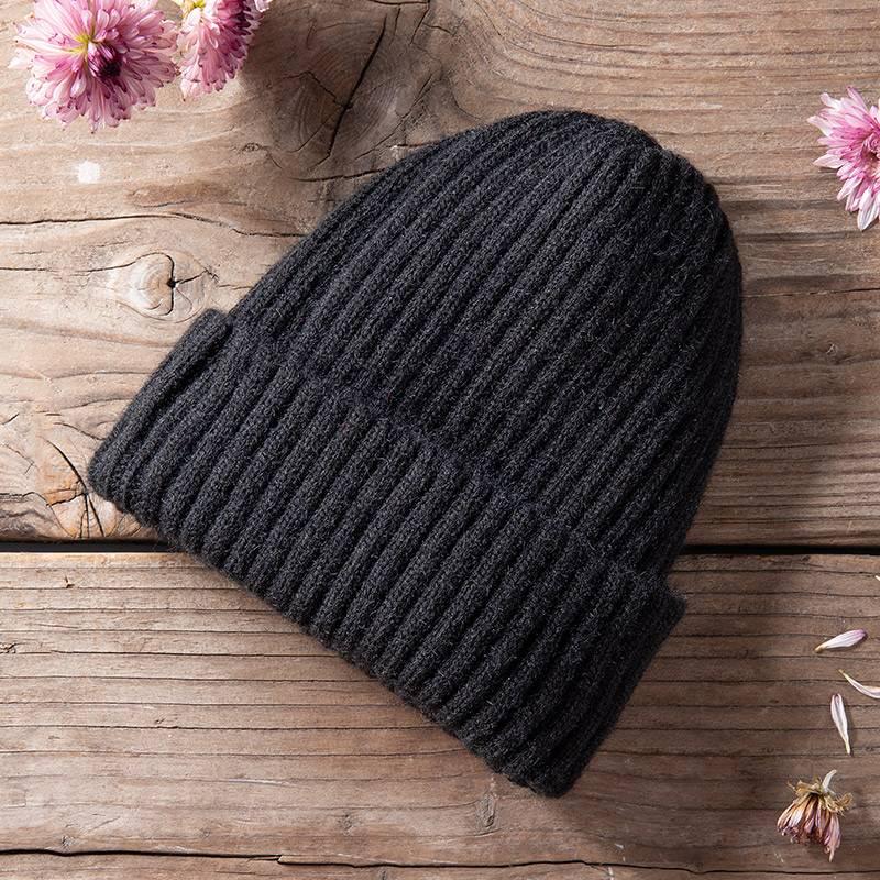 南极人秋冬季男士帽子围脖套装加绒加厚骑车防风保暖针织帽脖套