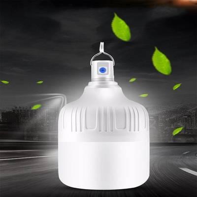 LED充电灯泡户外地摊灯挂式应急照明灯家用移动夜市帐篷露营摆摊