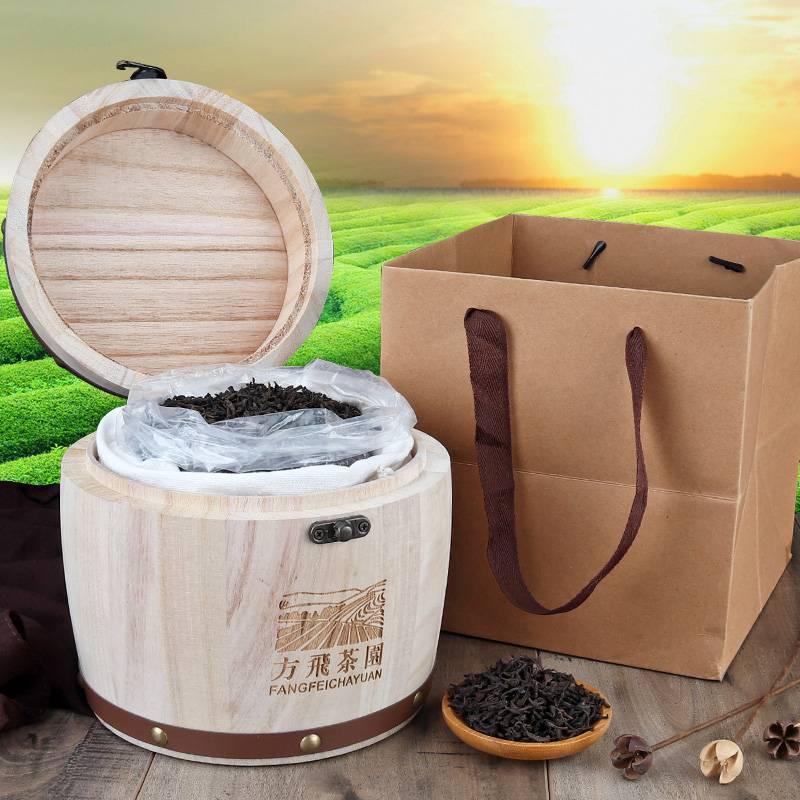 13【方飞】普洱茶熟茶叶普茶木桶装礼品送礼茶叶礼盒装500克