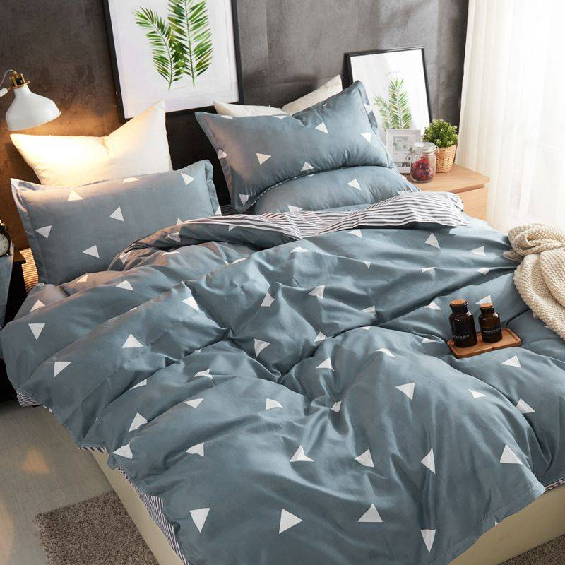 全棉纯棉床上四件套床单被套网红款秋冬裸睡亲肤ins风1.8m单双人