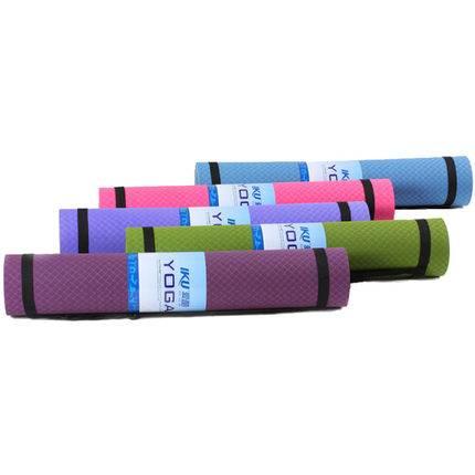 IKU瑜伽垫tpe加宽80cm加厚6/8mm无味防滑男女加长瑜珈健身垫子