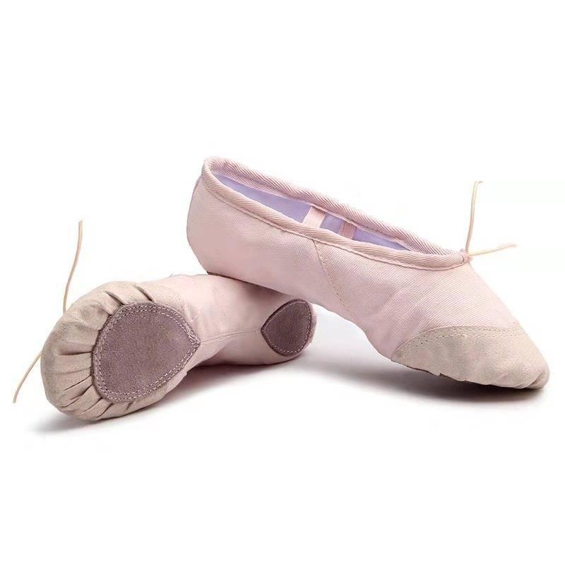 成人幼儿童舞蹈鞋女童软底练功男形体猫爪跳舞瑜伽粉色中国芭蕾舞