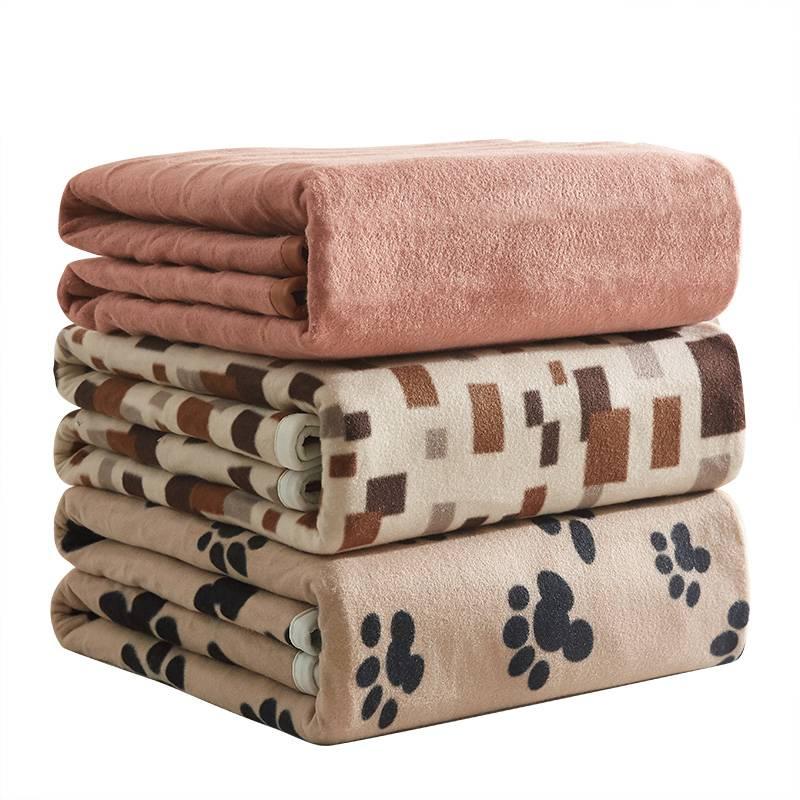 彩阳电热毯单人学生宿舍安全1.2米床小型双人双控调温家用电褥子