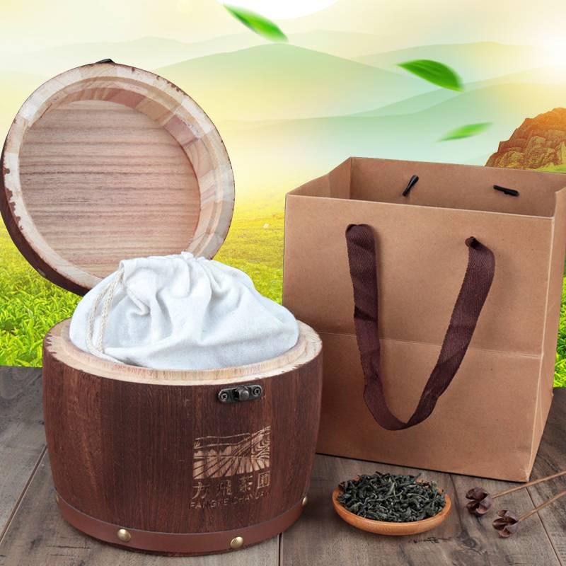 18【方飞】绿茶春茶新茶叶日照高山木桶礼袋装云雾茶500g浓香型