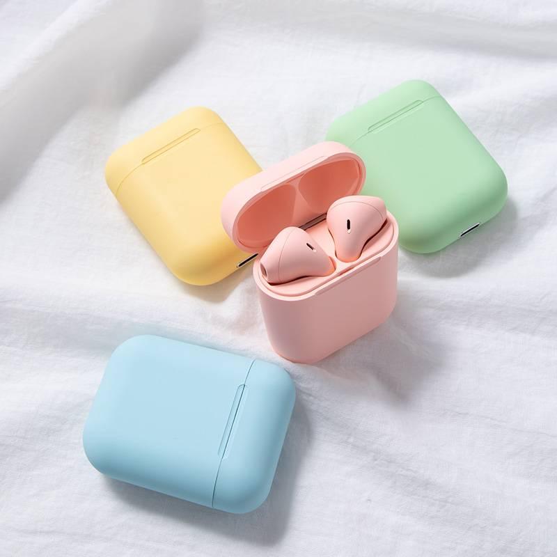 少女心真无线蓝牙耳机女生款可爱马卡龙粉色苹果oppo华为vivo小米安卓通用双耳入耳式迷你隐形最小无限卡通潮