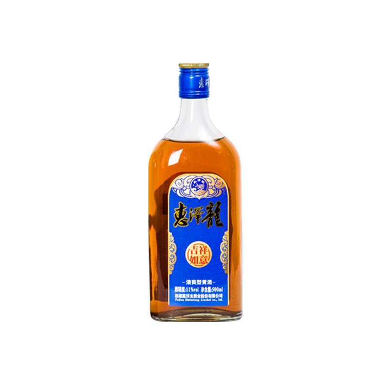 惠泽龙吉祥如意清爽特型半干红曲黄酒6年陈酿500ML*1瓶装酒试饮