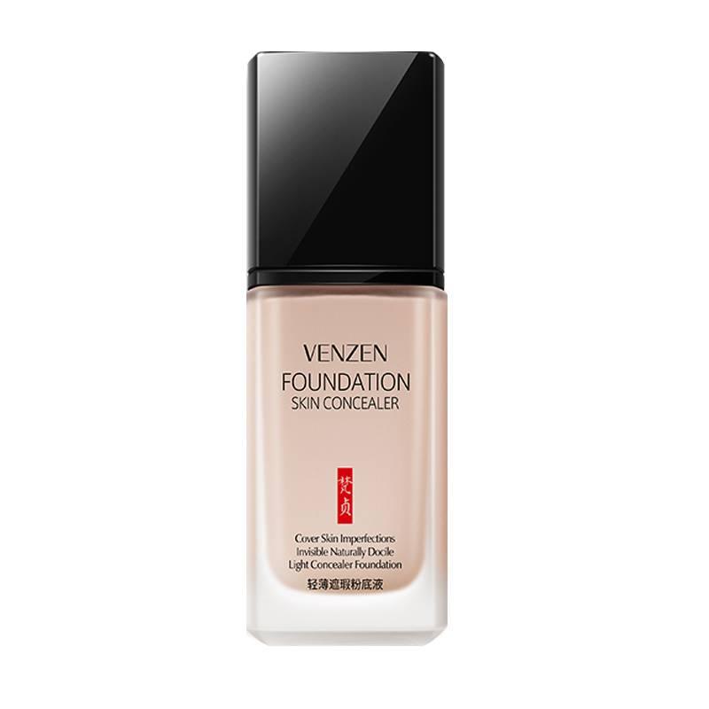 正品轻薄遮瑕粉底液自然控油持久隔离裸妆清透提亮肤色保湿BB霜女