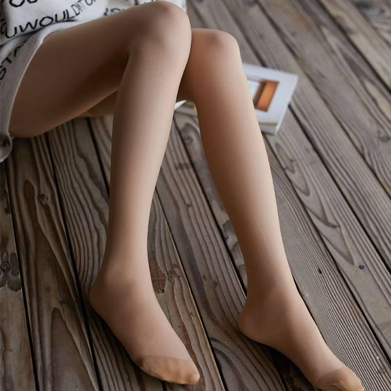 韩国ainimore baby婴儿粉肉色秋冬瘦腿打底袜裸感超自然光腿神器