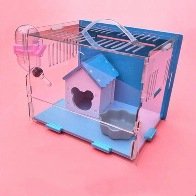 王小宠仓鼠笼子亚克力托盘式用品套装齐全便宜大的双人间超大别墅