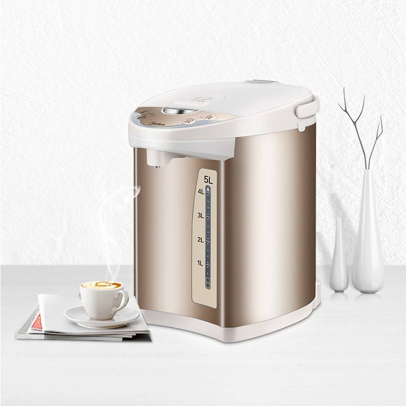 Midea/美的 PF701-50T电热水瓶304不锈钢家用保温全自动电烧水壶