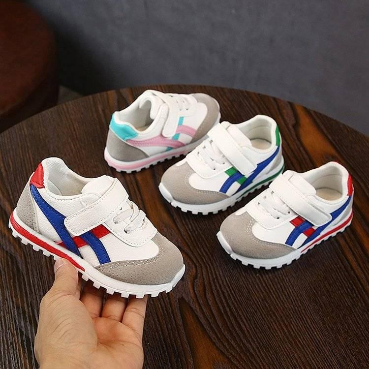 小白鞋男童鞋子2019新款秋冬款阿甘鞋儿童加绒鞋运动鞋女童二棉鞋