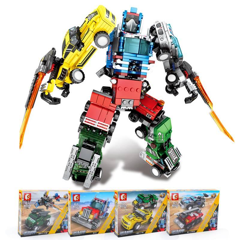 G森宝103225-28儿童智力拼接玩具男孩模型机器人合体积变金刚015A