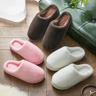 【买一送一】女冬季家居情侣棉拖鞋