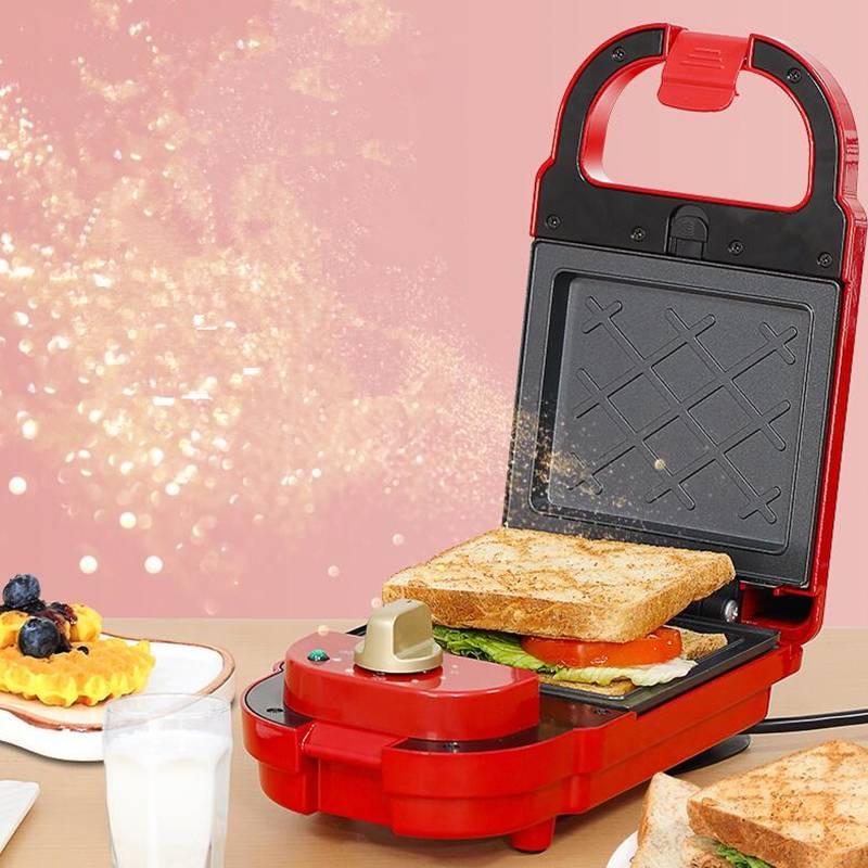 虹魅定时三明治早餐吐司机轻食机华夫饼机家用多功能吐司压烤机