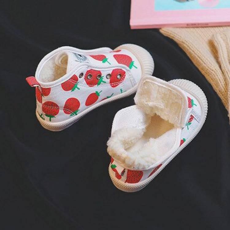 儿童棉鞋女童冬季加厚加绒帆布鞋男童冬鞋宝宝二棉鞋2019秋冬新款