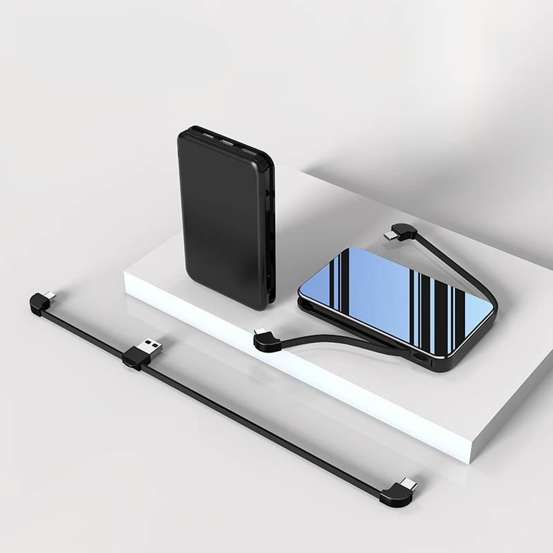 充电宝自带线三合一20000mAh大容量超薄便携苹果华为专用移动电源