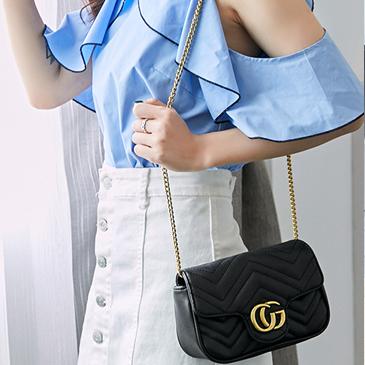 时尚小包包女2019新款韩版小香风菱格链条包手提包百搭单肩斜挎包