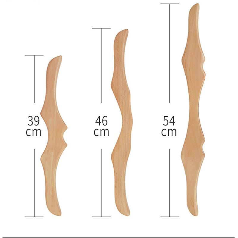 美容院擀筋棒一根全身通用养生按摩刮痧棒经络疏通榉木实木赶筋棒