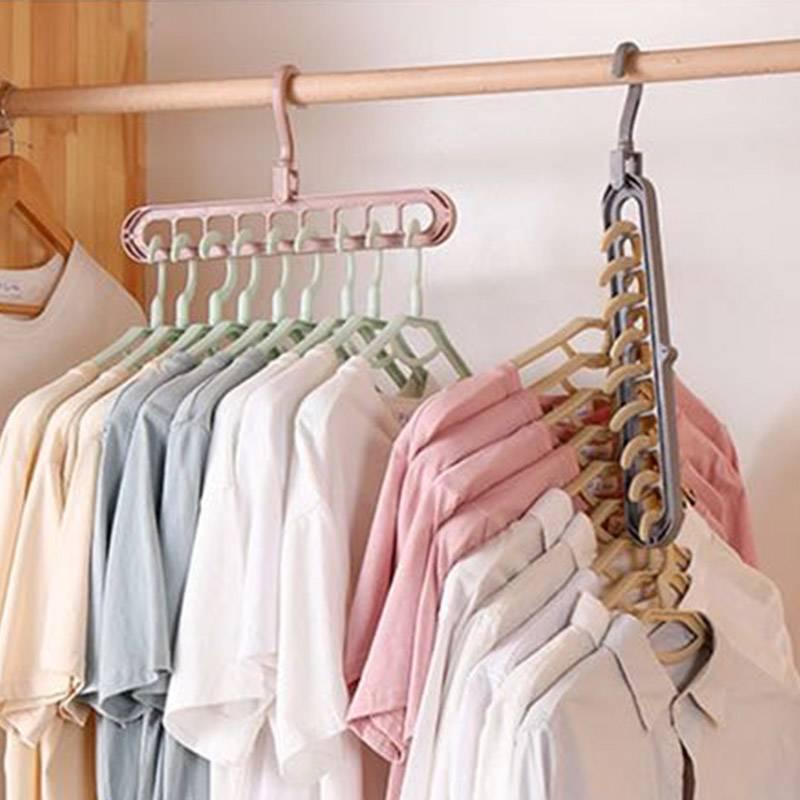 多功能衣架家用阳台折叠魔术晾衣架收纳创意旋转挂衣服晾晒衣架