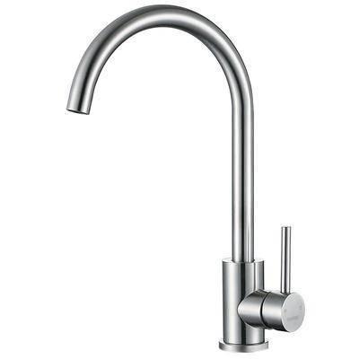 菲时特厨房龙头冷热水304不锈钢水槽洗碗洗菜台盆可旋转水龙头