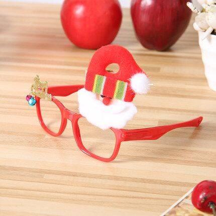 圣诞节礼品装饰品小礼物眼镜框儿童成人镜架鹿角节日创意派对用品