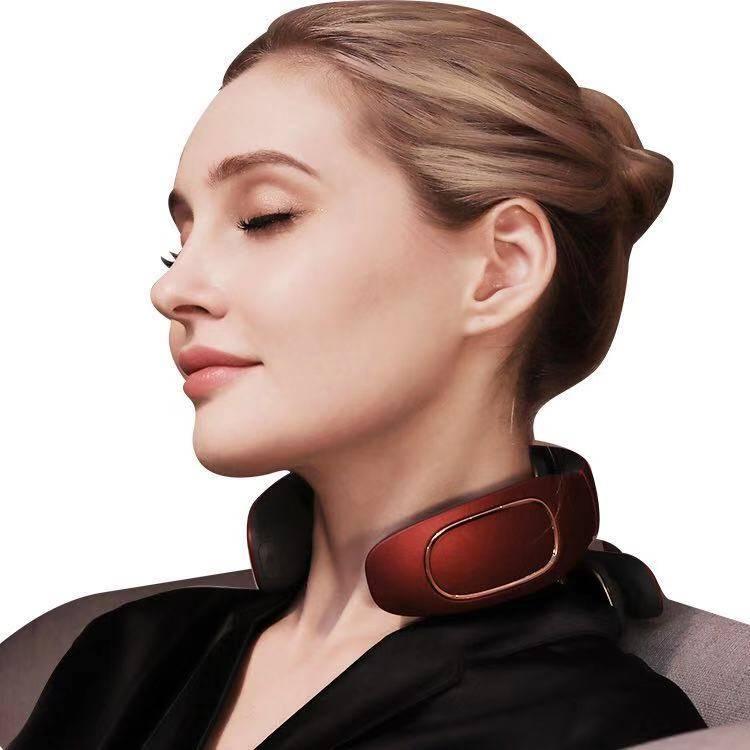 颈椎按摩器肩颈家用电动多功能护颈仪脖子智能加热肩部颈部按摩仪