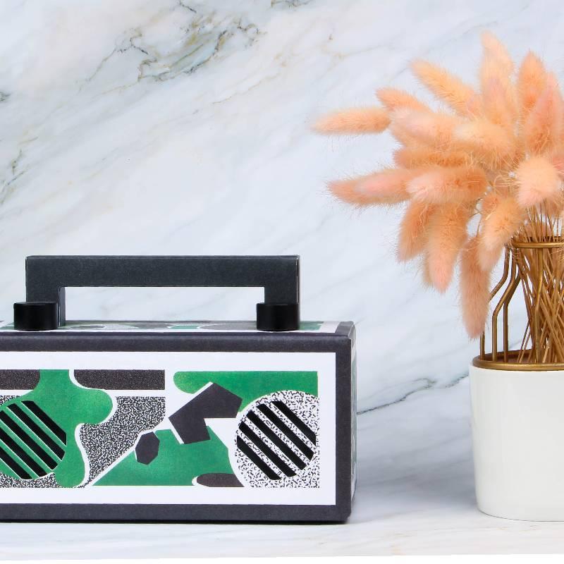 音乐画布mini文创蓝牙音箱低音炮便携纸盒生日礼物女生家用音响