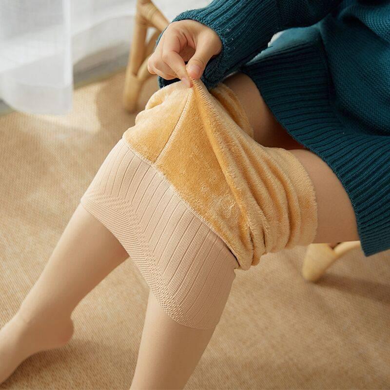 秋冬打底裤女一体裤袜加绒厚保暖裸感高腰收腹秋裤瘦光腿肤色神器