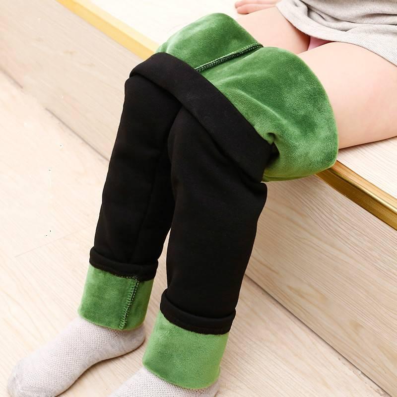 秋冬新款女童打底裤儿童加绒裤子外穿小女孩乳木果宝宝润肤裤长裤