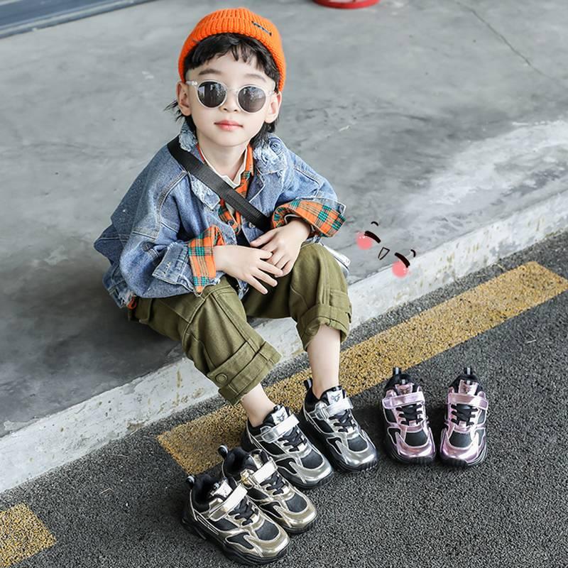 男童运动鞋儿童鞋子2019秋冬款韩版中大女童保暖加绒小孩子二棉鞋