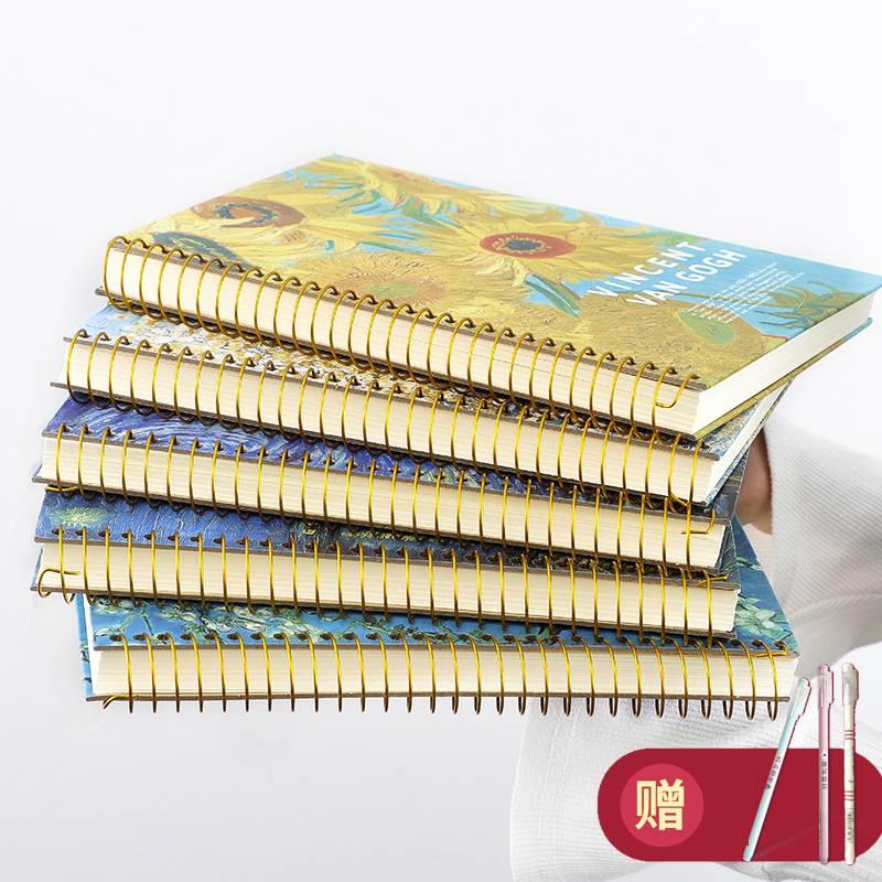 复古创意b5线圈本加厚简约油画大号记事本文具笔记本学生横线本子